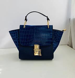 Жіноча сумка з тисненням Magic Valeri Синя