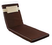Матрас Mocca двусторонний для лежака, шезлонга. Темно-коричневый
