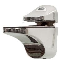 Кріплення для полиць 4-10 мм Тукан L 57/H 50 Хром (1 шт)