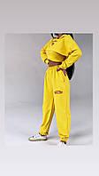 Жіночий стильний спортивний костюм з укороченим топом та капюшоном, фото 1