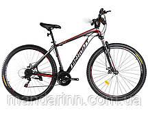 """Горный велосипед Azimut 40D  26 дюймов. Дисковые тормоза. Рама 17"""". Черно-белый"""