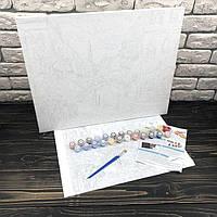 Картина по номерам на холсте Ночная Венеция 40х50 см danko toys раскраски рисование рисунки номерах цифрам