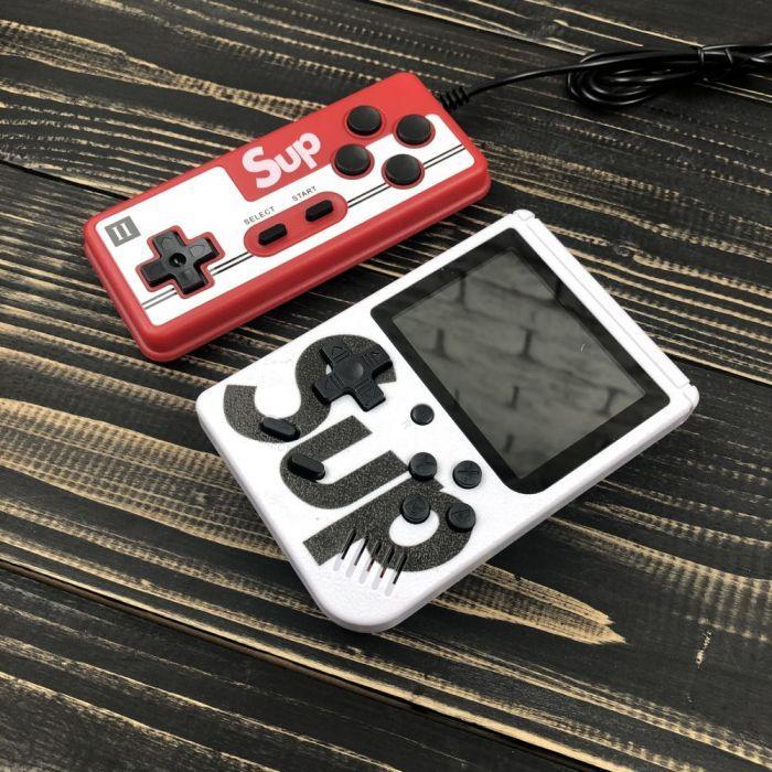 Портативна ігрова консоль ретро приставка з джойстиком Retro FC Sup Game Box 400 ігор dendy денді 8бит біла