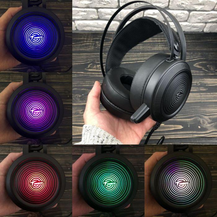 Ігрові навушники Tanbow з мікрофоном та підсвіткою геймерські для комп'ютера ноутбука пс4 ps4 xbox one 360