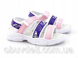 Якісні босоніжки для дівчинки american club 33 р-р - 21,0 см