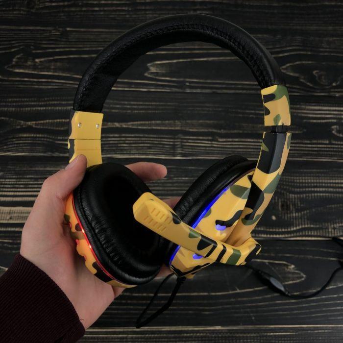 Ігрові навушники з мікрофоном KR-GM602 геймерські для комп'ютера, ноутбука і підсвічуванням пс4 ps4 xbox one