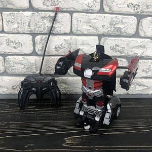 Детская игрушка робот Трансформер Bugatti машина игрушечная на радиоуправлении на пульте для мальчиков красный