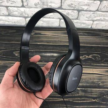 Накладні дротові навушники Hoco W24 з мікрофоном для телефону комп'ютера ноутбука пк комп'ютерні набір 2в1