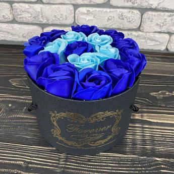 Мильні троянди букет з мила в коробці подарунковий набір мильні квіти на подарунок на 8 березня мамі дівчині
