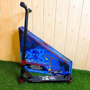 Трюковой самокат Best Scooter с пегами hic система трюковый трюковий самокат для трюков трюків детей красный