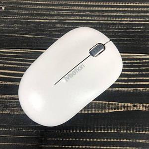 Беспроводная компьютерная мышка Meetion 1600DPI блютуз мышь для компьютера ноутбука пк белая