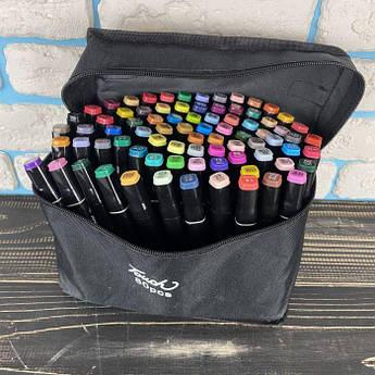 Скетч маркери Touch 80 шт набір маркерів фломастери для скетчинга 80 квітів набір двосторонніх скетч маркерів