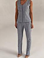 Жіночий стильний костюм штани і жилет на блискавці, фото 1