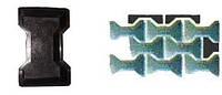 Форма для производства тротуарной плитки «Двойное «Т» гладкий и шагрень»