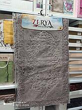 Набор хлопковых ковриков для ванной комнаты Zerya  60*100 + 50*60 Антрацит