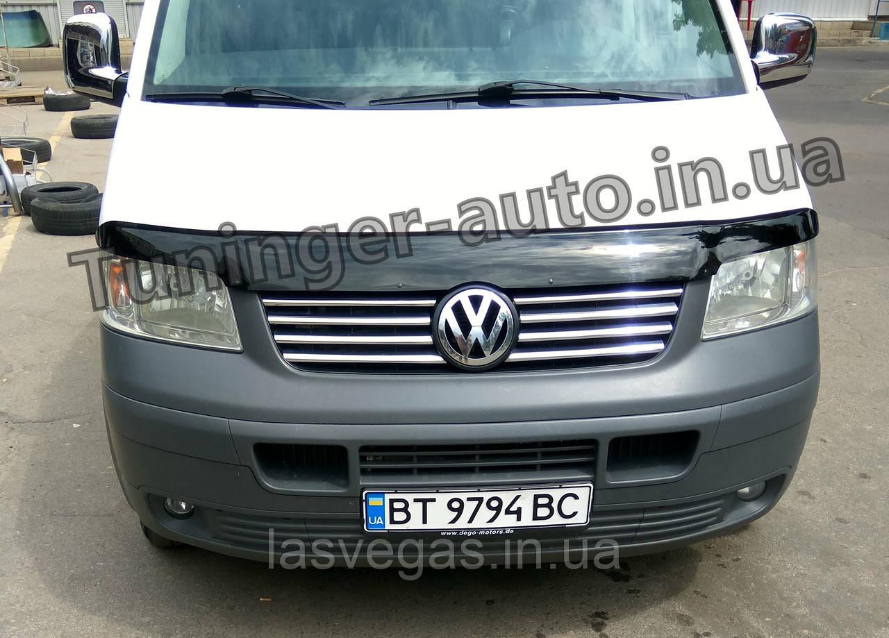 Дефлектор капота, мухобойка Volkswagen Transporter T5 2003-2010 (ANV)
