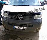 Дефлектор капота, мухобойка Volkswagen Transporter T5 2003-2010 (ANV), фото 3