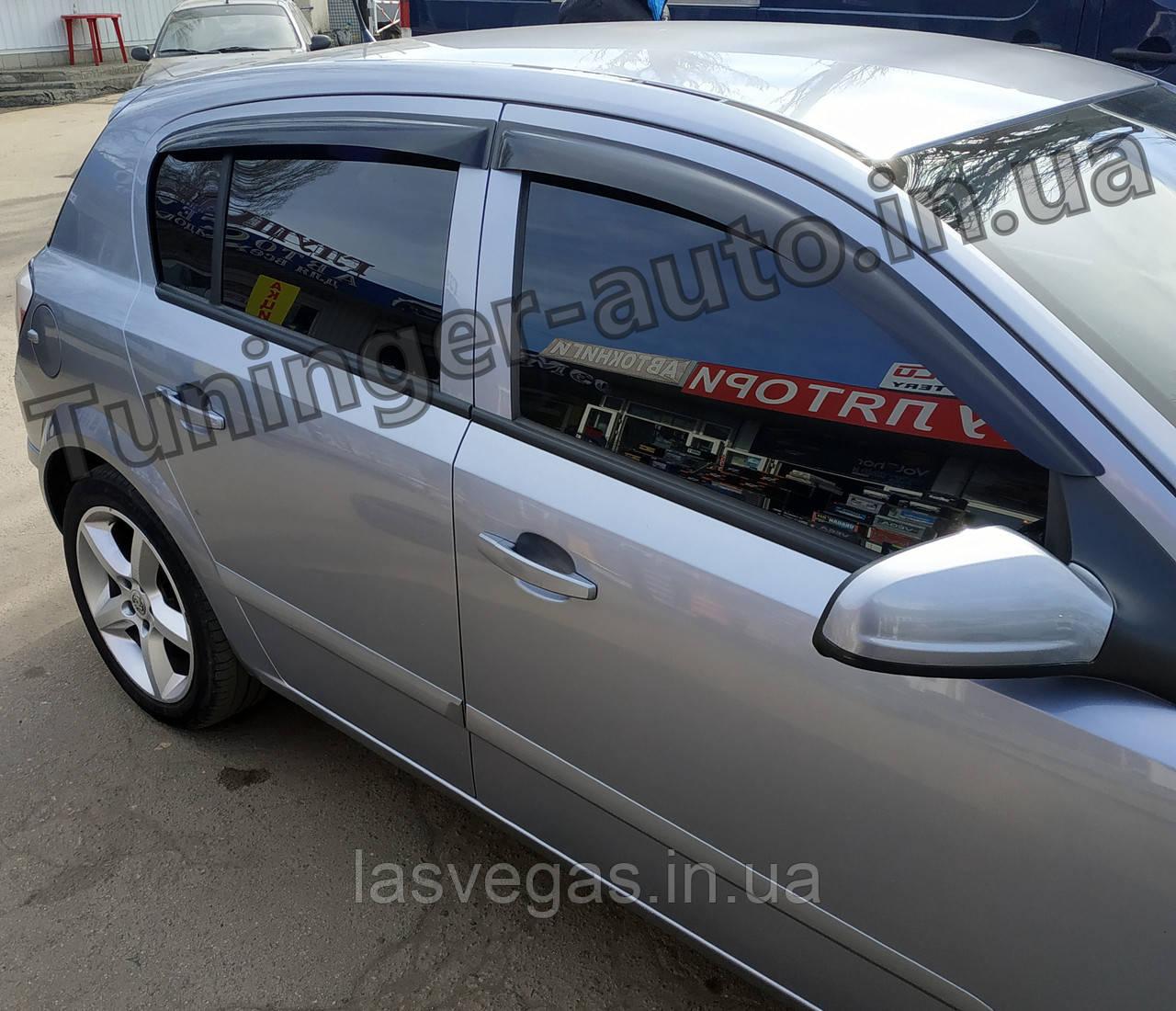 Дефлектори вікон, вітровики Opel Astra H 2004-2014 (ANV)