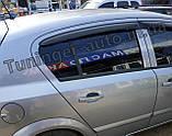 Дефлектори вікон, вітровики Opel Astra H 2004-2014 (ANV), фото 3
