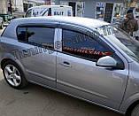 Дефлектори вікон, вітровики Opel Astra H 2004-2014 (ANV), фото 4
