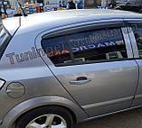 Дефлектори вікон, вітровики Opel Astra H 2004-2014 (ANV), фото 5