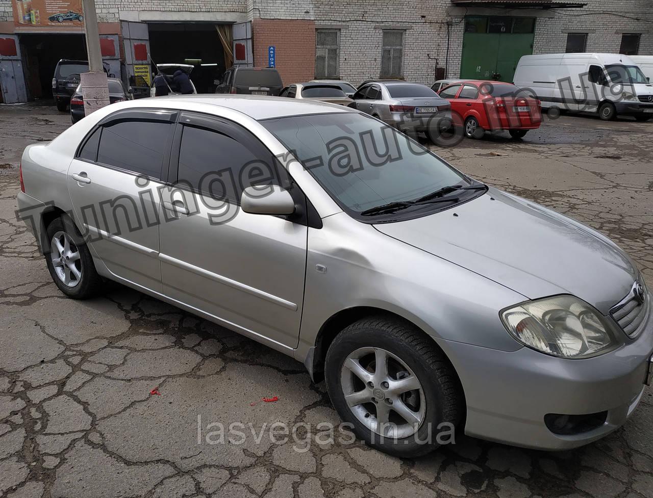Дефлекторы окон, ветровики Toyota Corolla E120 2000-2007 (Hic)