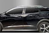 Дефлекторы окон, ветровики хромированные Peugeot 3008 2017- (Autoclover/6шт./E010), фото 2