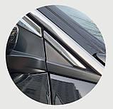 Дефлекторы окон, ветровики хромированные Peugeot 3008 2017- (Autoclover/6шт./E010), фото 3