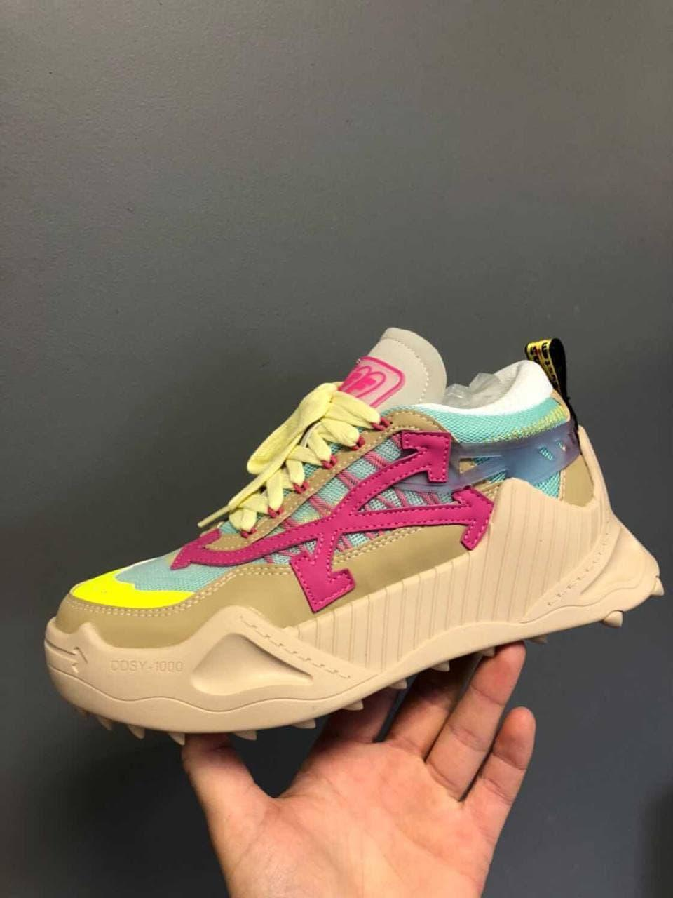 "Кросівки Off-White Odsy Pink Beige ""Бежеві/Різнобарвні"""