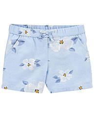 """Дитячі шорти для дівчинки """"Ромашка"""" Carters льон"""