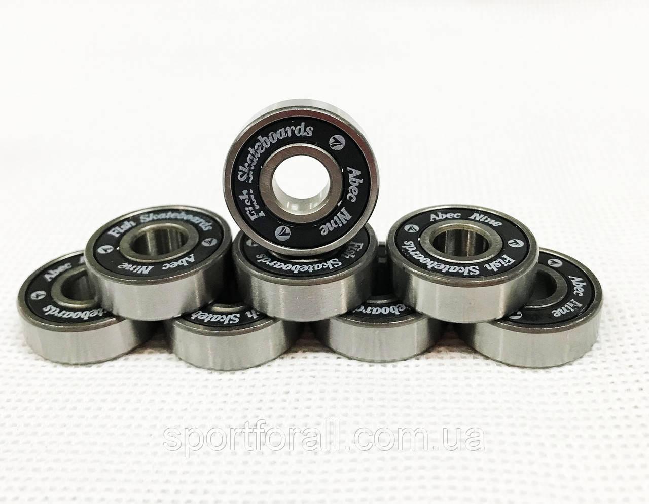 Подшипники для  для роликовых коньков,самокатов,скейтбордов  8шт.608-RS (ABEC-9)
