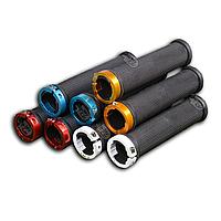 Грипсы (ручки) велосипедные с цветные замками и заглушками