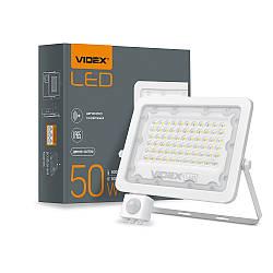 Прожектор LED VIDEX F2e 50W 5000K з датчиком руху та освітленості