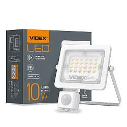 Прожектор LED VIDEX F2e 10W 5000K з датчиком руху та освітленості