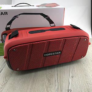 Портативная Bluetooth Колонка Hopestar A20 BASS Speaker беспроводная водонепроницаемая блютуз акустика красная