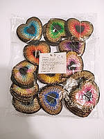 Наклейки для одежды (клеевые) сердечки 120 штук в упаковке