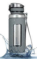 Пляшка для води KingCamp SILICON TRITAN BOTTLE (KA1144) medium gray