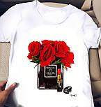 Белая футболка женская с рисунком на груди (р. 42-56) 2717482, фото 2