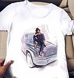 Белая футболка женская с рисунком на груди (р. 42-56) 2717482, фото 9