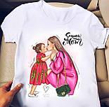 Белая футболка женская с рисунком на груди (р. 42-56) 2717482, фото 3