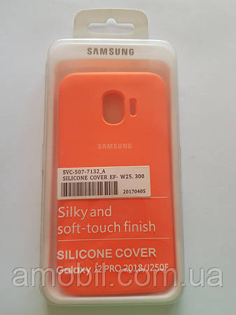 Чехол Silicone Case Samsung J2 PRO 2018 / J250F (корал)