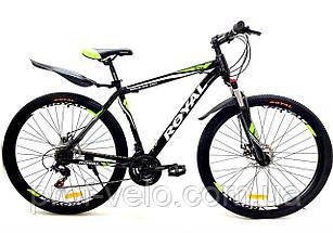 """Велосипед спортивный Royal 26-15"""" DRIVE чёрно-салатовый"""