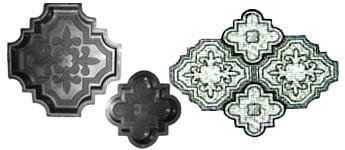 Форма для производства тротуарной плитки «Гжель»