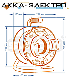 Подовжувач на котушці 25м 3х2.5мм2 з виносною розеткою SVITTEX SV-2340, фото 5