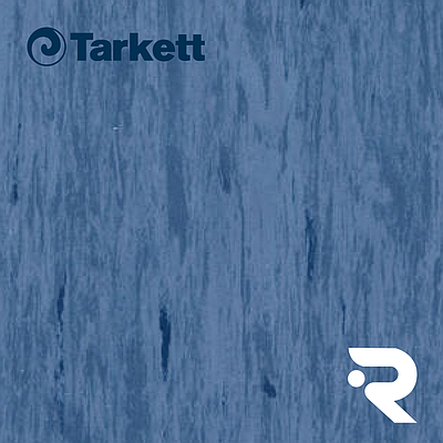 🏫 Гомогенний лінолеум Tarkett | Standard DARK BLUE 0493 | Standard Plus 2.0 mm | 2 х 23 м