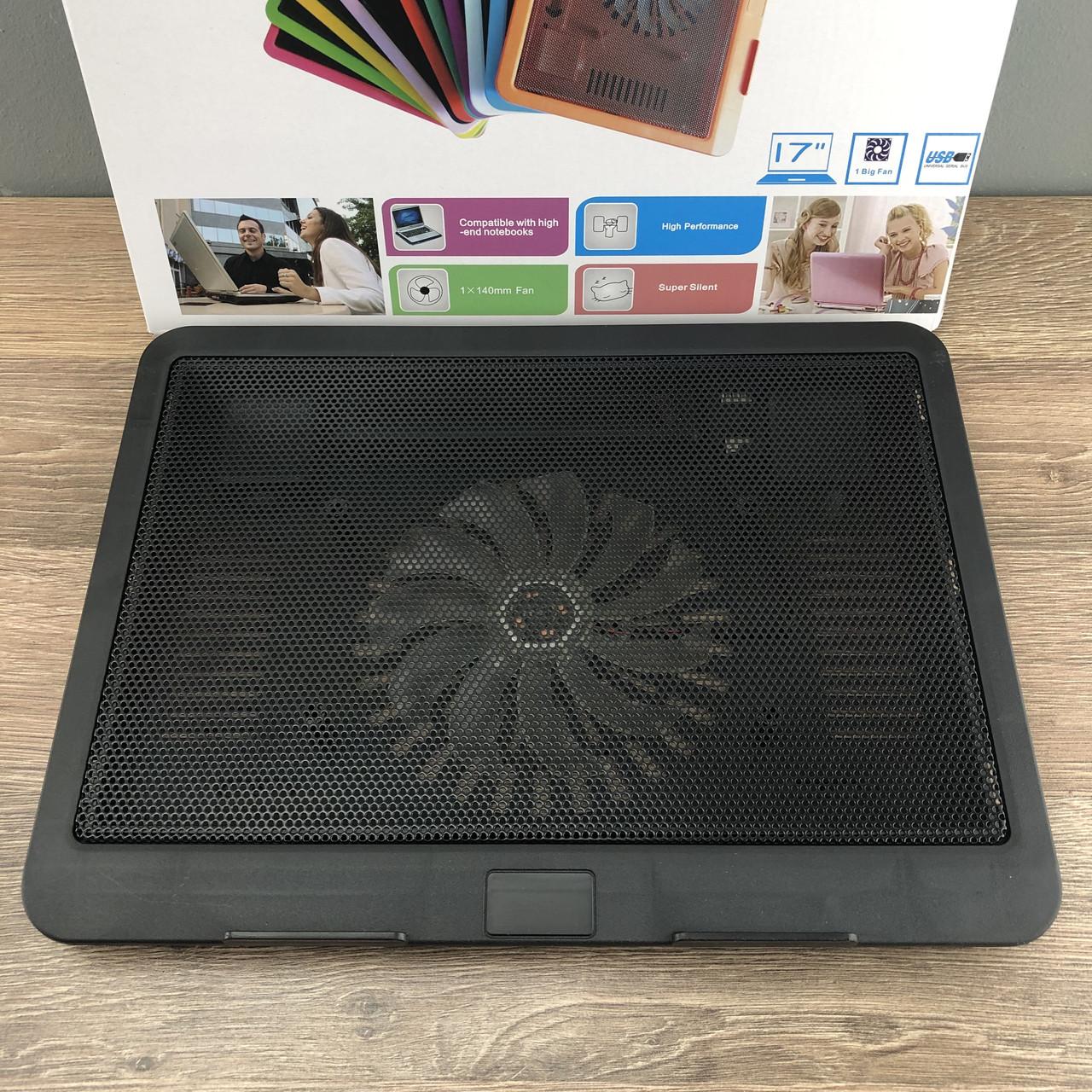 Охолоджуюча підставка для ноутбука N191 з підсвічуванням охолоджувач вентилятором USB