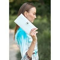 Холдер для документов из натуральной кожи Кожаный женский тревел-кейс белый Тревел-кейс ручной работы