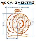"""Подовжувач на котушці 40м 2х0.75мм2 з виносною розеткою """"ЕКОНОМ"""" SVITTEX SV-242, фото 5"""