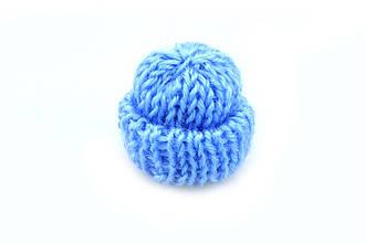 Мини шапочка для рукоделия, голубая, 35х35мм