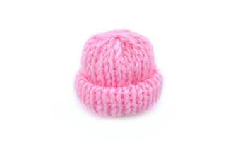Мини шапочка для рукоделия, розовая, 35х35мм